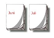 Kalender-Blätter Juni, Juli