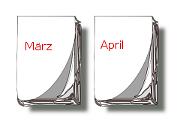 Kalender-Blätter März, April