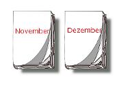 Kalender-Blätter November, Dezember