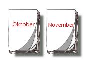 Kalender-Blätter Oktober, November