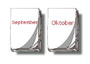 Kalender-Blätter September, Oktober