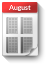 Kalender-Blatt August