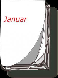 Kalender-Blatt Januar