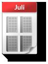 Kalender-Blatt Juli