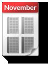 Kalender-Blatt November