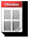 Kalender-Blatt Oktober