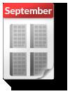 Kalender-Blatt September