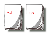 Kalender-Blätter Mai, Juni
