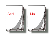 Kalender-Blätter April, Mai