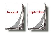 Kalender-Blätter August, September
