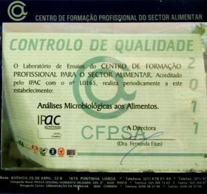 Mikrobiologische Zertifizierung, Portugal