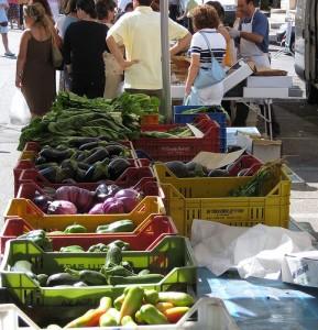 Markt, Gemüsestand