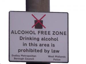 Alkoholverbot Schild