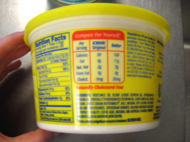 Margarine mit Nährwertkennzeichnung
