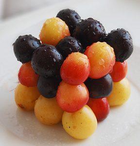 Würfel aus Früchten