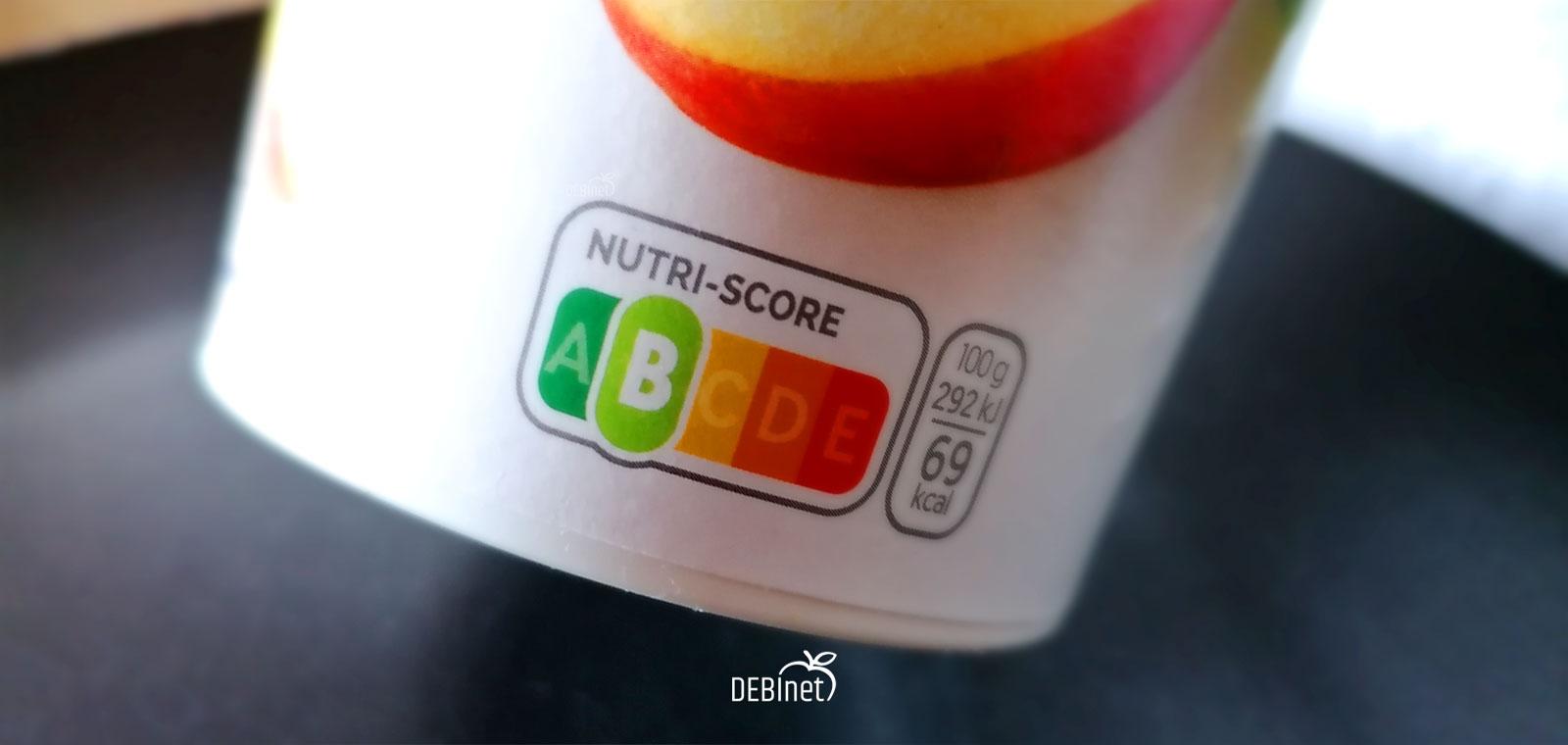 Bild von Nutri-Score auf Becher