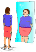 Skizze falsches Körperbild
